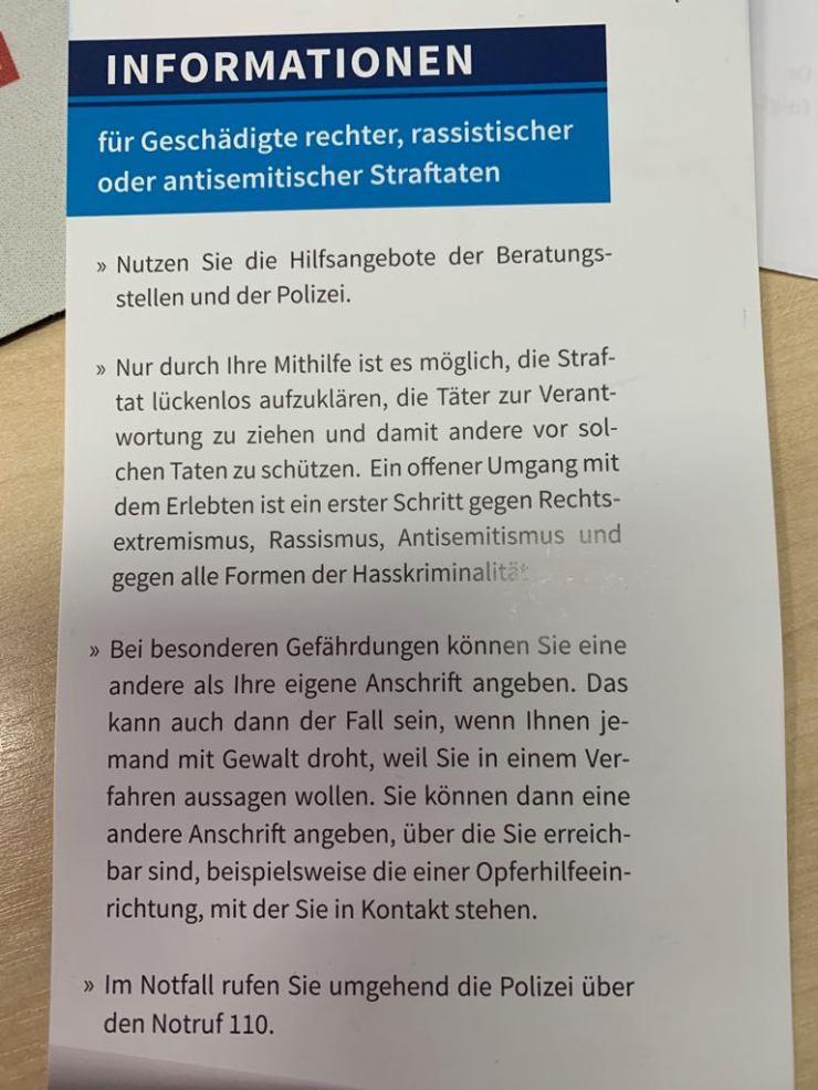 Infoblatt Geschädigte